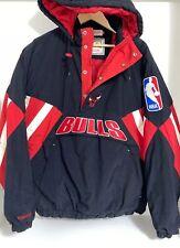 Chicago Bulls VTG 90s Mitchell & Ness Jacket Pull Over Hoodie Big Logo NBA XL