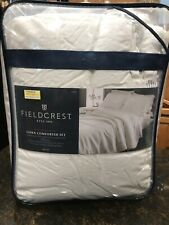 Fieldcrest 100% Linen King Comforter Set  in Sour Cream OEKO-TEX Certified NIP