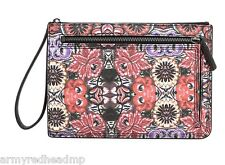 Rebecca Minkoff Womens Mexican Flower Leather Large Annie Pouch Clutch NWT