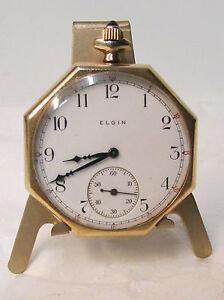 Antique Elgin 14K Solid Gold Case, Open Face 7 Jewels Pocket Watch ~ Date 1905
