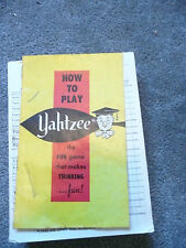 vintage yahtzee scorecards and manual new