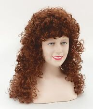 Long Curly Auburn Medieval Wench Fancy Dress Adult Female Lady Wig NEW P6756