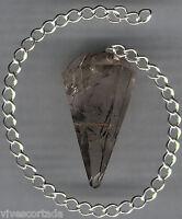 Pendulo cuarzo blanco rutilado dorado Dioxido Titanio