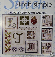 Initials Sampler – DMC counted cross-stitch kit