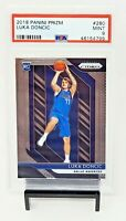 2018 Prizm Dallas Mavericks Star LUKA DONCIC Rookie Basketball Card PSA 9 MINT