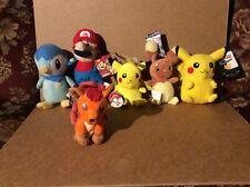 Nintendo Pokémon & Mario Plush Stuff Mix Set of 6