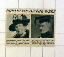 1920 la condesa de Selkirk y la señora Margaret Dunlop Gibson oriental erudito