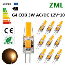 10pcs G4 LED 3W 12V AC/DC COB Warm White Light High Quality Lamp Bulb Dimmable