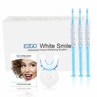 EZGO Teeth Whitening Kits Tooth Bleaching White Smile Gel light Mouth Tray Wipe