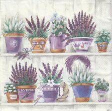 2 Serviettes en papier Pot de Lavande Decoupage Paper Napkins Lavender Range