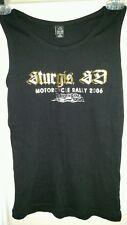 WOMEN'S L STURGIS SD 2006 66th annual MOTORCYCLE RALLY USA Metallic TANK TOP