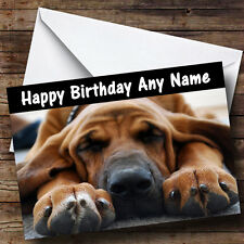 Segugio CANE personalizzato compleanno auguri carta