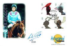 Lester PIGGOTT Signed Autographed Editions Horse Racing FDC COA AFTAL