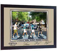 Roger Federer Djokovic Nadal Murray Signed Collage Abbey Road The Beatles Framed