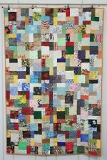 """Handmade Quilted Multi PATCHWORK Christmas Quilt Blanket 68 X 45"""" Market 301"""
