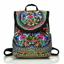 Women Flower Shoulder Bag Handmade Vintage Style Bag Ethnic Embroidery Backpack