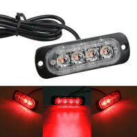 1X Car Truck Motorcycle Warning Flash Light Flashing Strobe Lamp Red LED 12V-24V