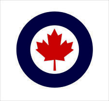 Royal Canadian Air Force Roundel Sticker Canada RCAF CAN  Vinyl Car Bumper Decor