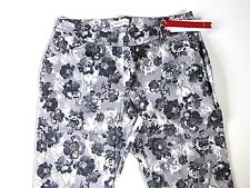 Ladies Casual Stretch Trousers - Stone Floral- UK Size 18R- NEW