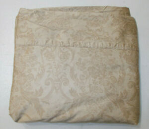 Rare RALPH LAUREN Adriana Floral Scroll King Flat Sheet Italy Quality Cotton