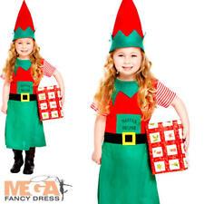 Girls Santas Little Helper Elf Christmas Party Fancy Dress Costume 2 - 3 Years