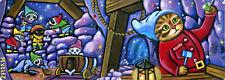 Original Raccoon Kitten Cat Snow White Seven Dwarfs Cave Double Aceo Painting