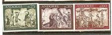 ANDORRE FRANCE YVERT N° 191 à 93 ** RELIGION CATHOLIQUE
