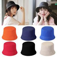 Unisex Fashion Fisherman Hat Cotton Solid Bucket Hat Summer Outdoor Camping Hat
