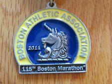 Rare 115th BOSTON MARATHON Apr 2011 FINISHER MEDAL Geoffrey Mutai Caroline Kilel