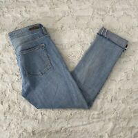 Pilcro and the Letterpress Anthropologie Blue Em Distressed Jeans Size 27