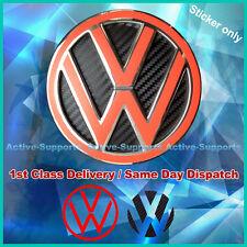 VW Nero Fibra Di Carbonio Stile INSERTI AUTOADESIVO PER rear badge MK4 MK5 MK6 Golf GTI