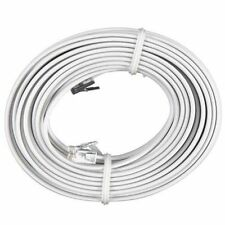 100 FT Feet RJ11 4C Modular Telephone Extension Phone Cord Cable Line Wire White