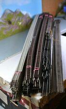 Roco H0 Modellgleis NS 4504 l// 4505 R elektrische Schnellfahrweichen geprüft