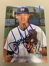Jordan Yamamoto  2015  Helena Brewers Signed Team Card