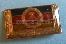m14) East German Cold War communist GDR DDR flag pin badge medal in box Berlin