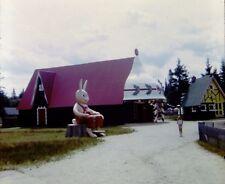 35mm Slide Santa's Village NH Giant Rabbit Little Girl July 1968