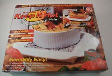 Keep It Hot Microwavable Hot Plate as Seen on TV Granite Surface Keeps Food Hot