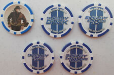 Shelby American Poker Chip Set - Includes Rare $100.00 Chip. Free Decal Set ! !