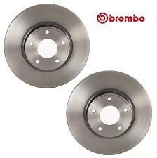 For I35 Altima Maxima Pair Set of 2 Front Coated Disc Brake Rotors 296 mm Brembo