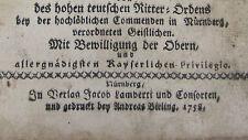 Biblia Sacra oder die ganze heil. Schrifft aus dem Jahr 1758 , Band / TOM 1