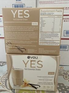 28 Packets/Servings YOLI YES Protein Shake Vanilla Flavor New Sealed Exp11/30/20