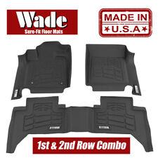 Wade Sure-Fit Floor Mats Combo Fits 2008 - 2010 Ford Super Duty Super Cab