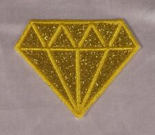 Embroidered Glitter Gold Yellow Topaz Diamond Gem Applique Patch Iron On Sew USA