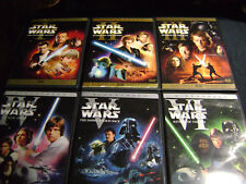 Star Wars 1-6 Episode I II III IV V VI trilogy prequal DVD LOT COMPLETE SAGA
