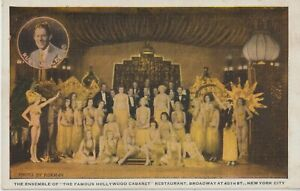 """NEW YORK CITY THE ENSEMBLE OF """"THE FAMOUS HOLLYWOOD CABARET"""" RESTAURANT BRODWAY"""