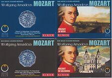 Österreich 5 Euro 2006 Silber Mozart 2x Miniblister