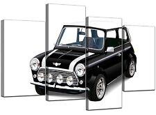 Mini Cooper Car Canvas Wall Art Pictures Black White XL Prints 4095