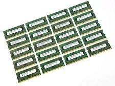 Lot of 20 Micron 2GB 1Rx8 PC3-12800S 1600Mhz DDR3 Mac Laptop Memory RAM