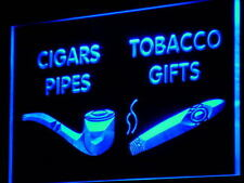 "16""x12"" i732-b cigars Pipes Tobacco Gifts Shop Wall Decor LED Neon Signs"