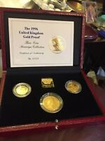 1996 Gold Proof Sovereign Three Coin Set Half Sovereign, Full & DoubleSovereign